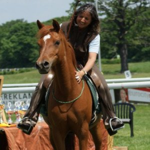 Christiane Göbel bei der Calm Horse