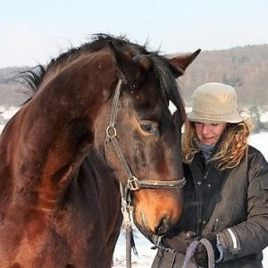 Daniela Vögele bei der Calm Horse Academy