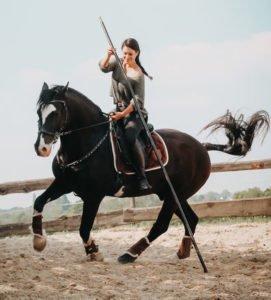 Fabienne Lemke bei der Calm Horse Academy