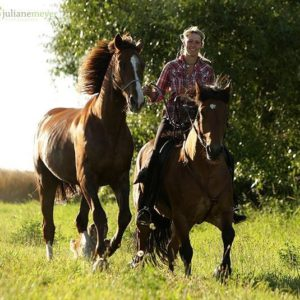 Katja Schnabel bei der Calm Horse Academy